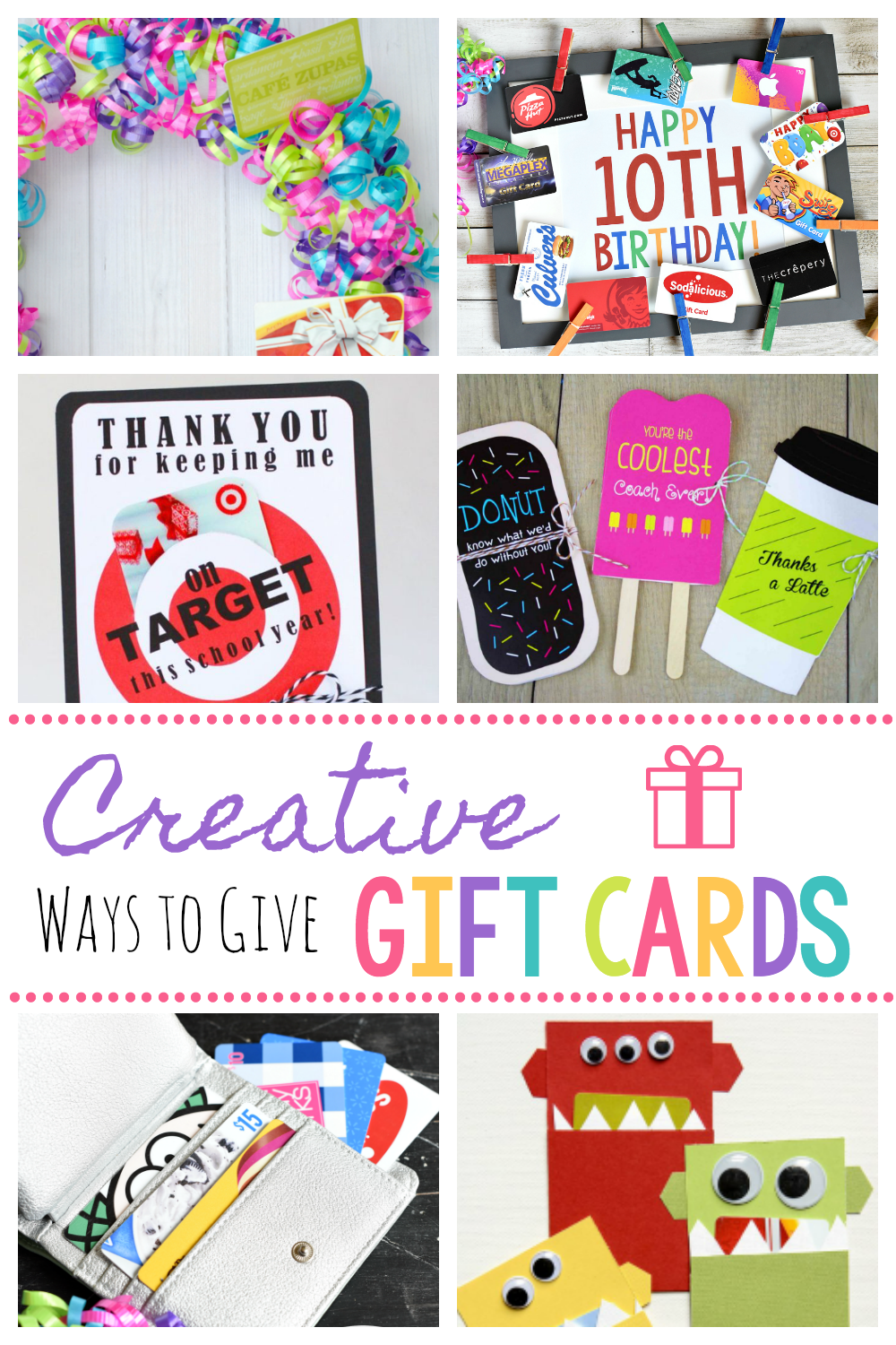 Creative Ways to Give Gift Cards-Fun DIY Gift Card Giving Ideas #giftcards #giftcardideas #gifts