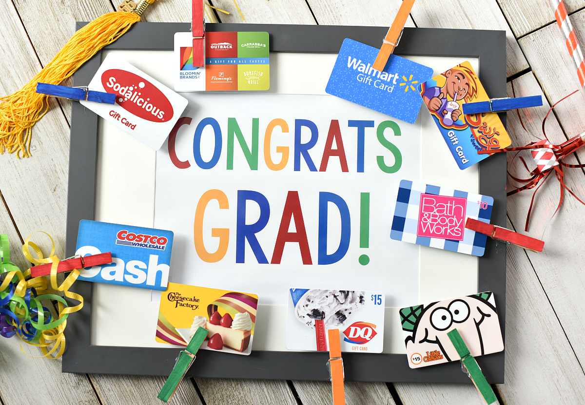 cute graduation gifts congrats grad gift card frame