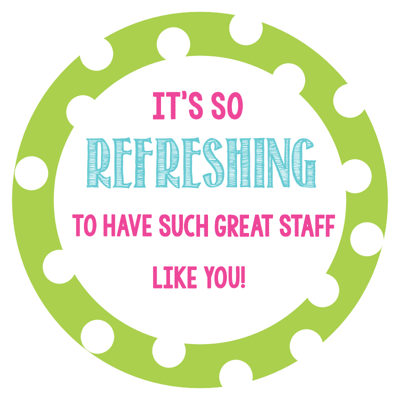 Staff Appreciation Gift Tags