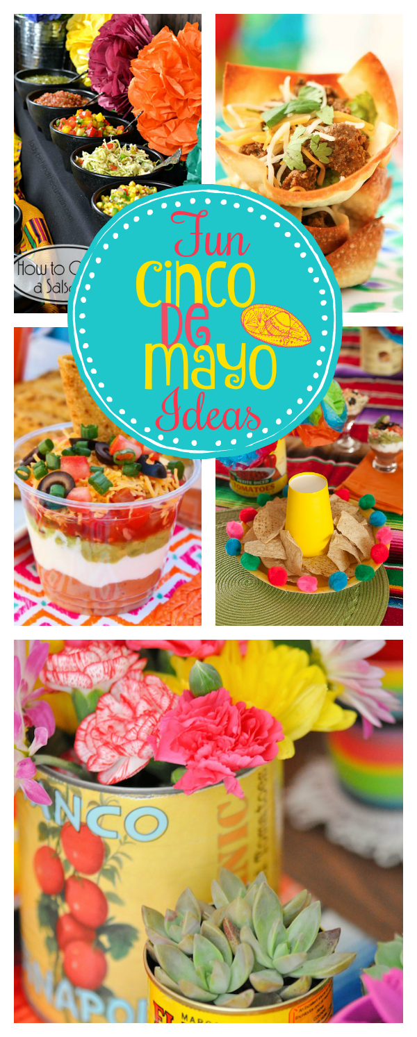 Mexican themed party ideas for cinco de mayo fun squared - Cinco de mayo party decoration ideas ...
