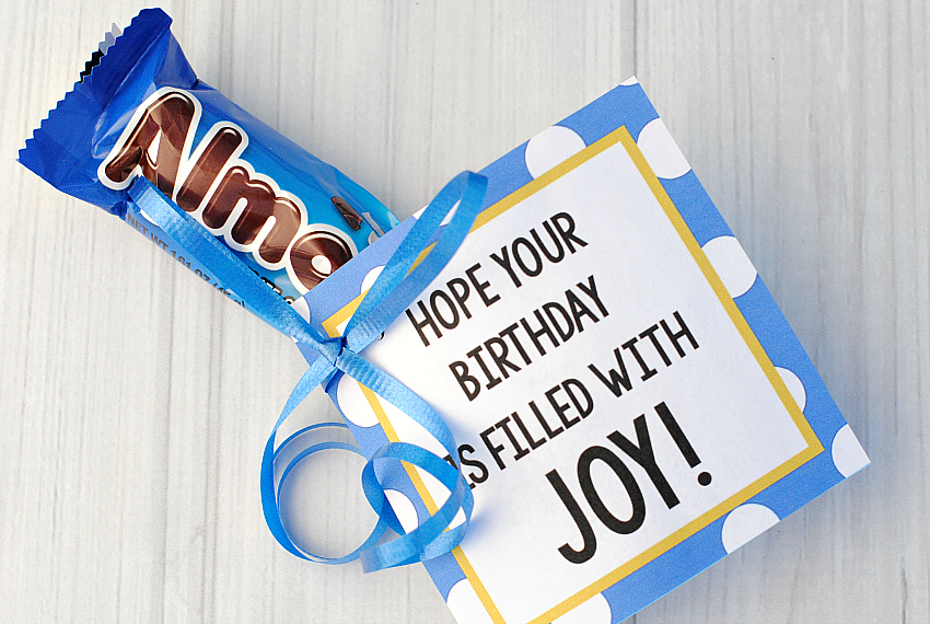 Candy Bar Birthday Gifts