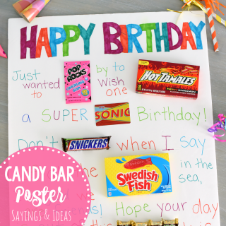 Fun & Simple Candy Poster for Friend's Birthday