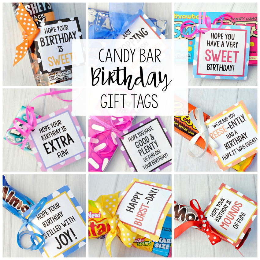 candy bar sayings for simple candy birthday gifts