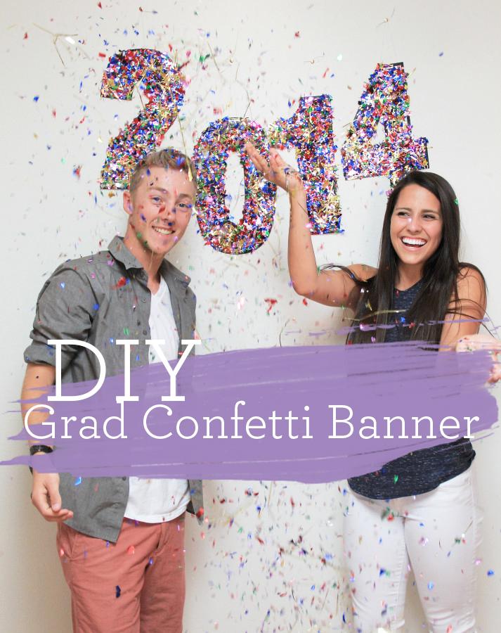 DIY Grad Confetti Banner
