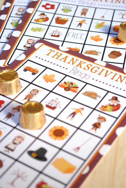 Thanksgiving Bingo Game to Print and Play
