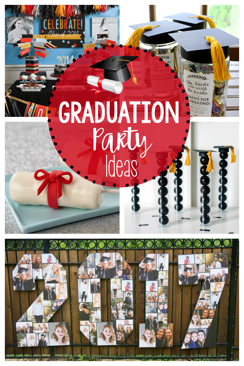 pear decor graduation decoration ideas blog collage party top tree