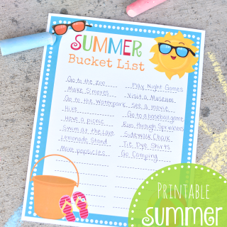 Summer Bucket List & Printable To Do List