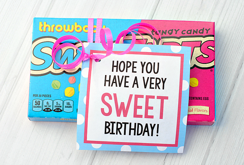 candy bar sayings for simple birthday gifts fun squared