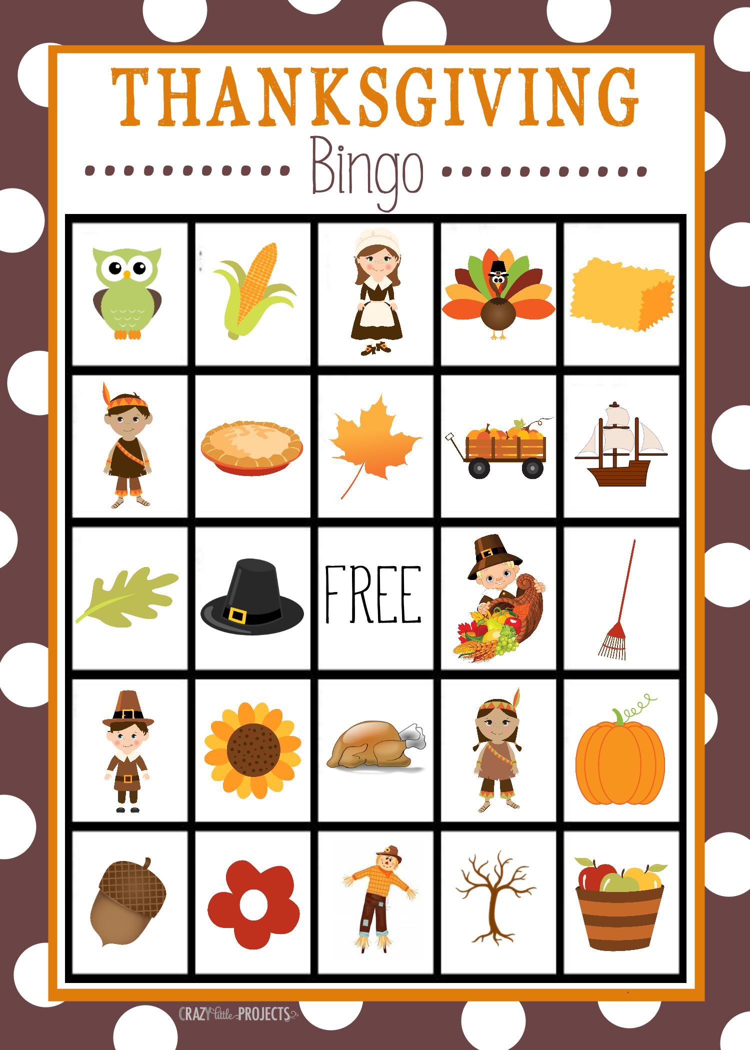 Thanksgiving Bingo Boards