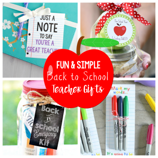 15 Fun & Simple Back to School Teacher Gifts