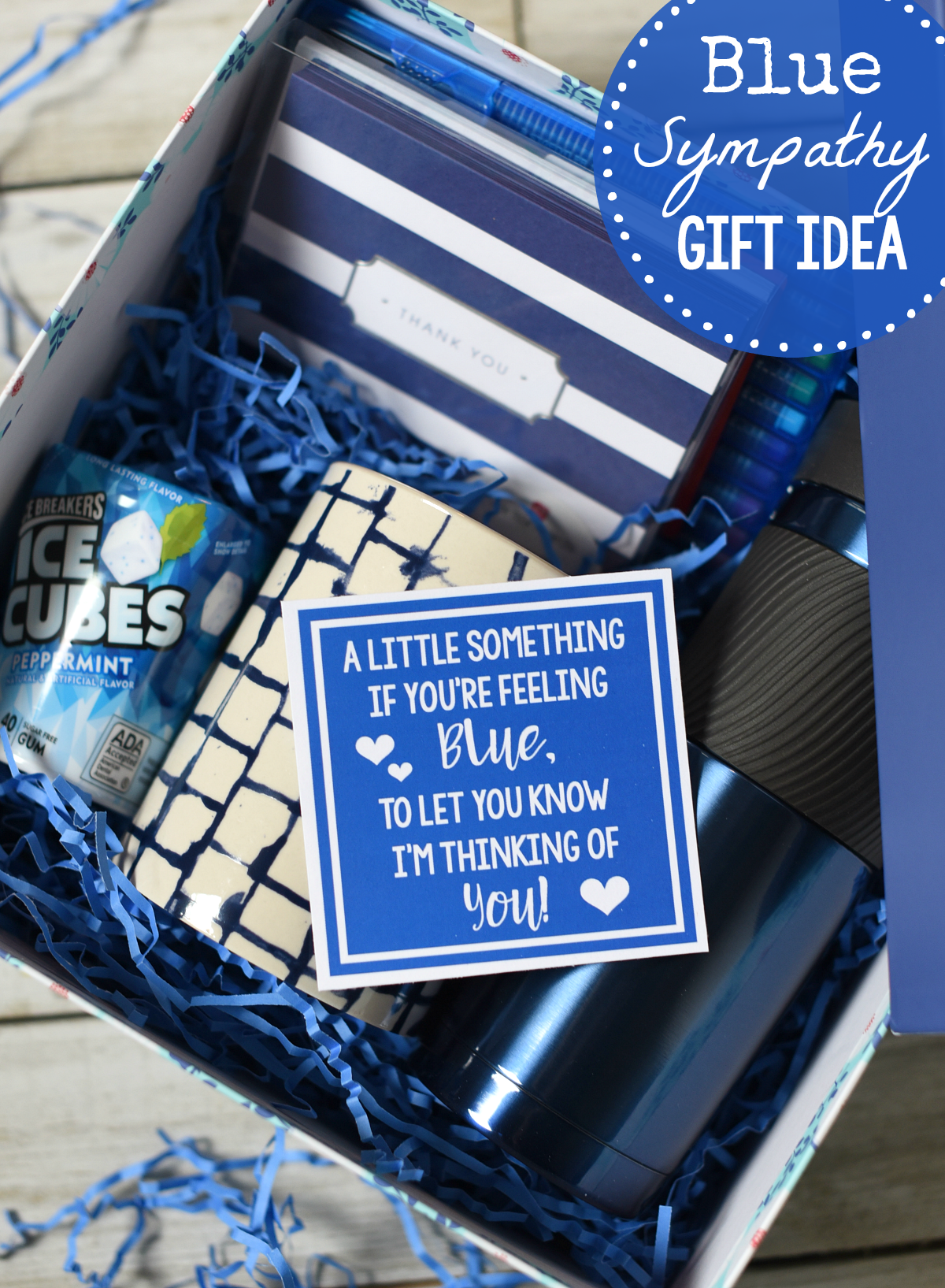 Blue Themed Unique Sympathy Gifts