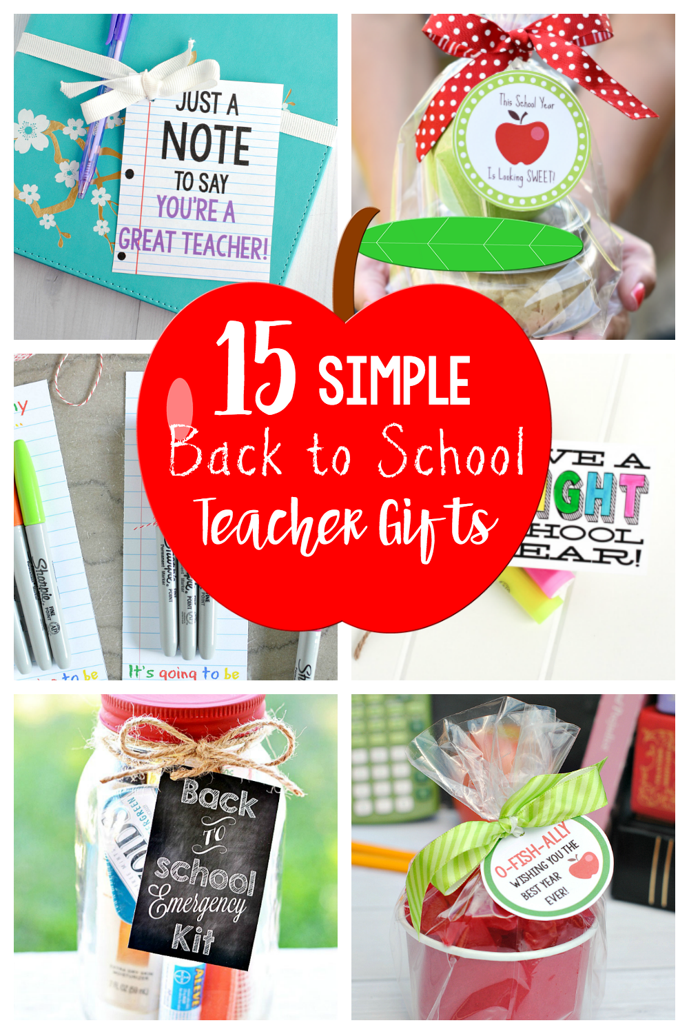 15 Cute and Simple Back to School Teacher Gifts to say hello to the new teacher on the first day of school. #backtoschool