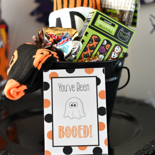 You've Been Booed-Fun Halloween Gift Basket & Tags