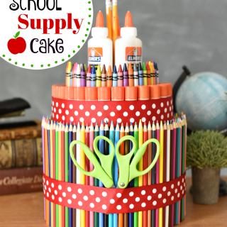Simple DIY School Supply Cake