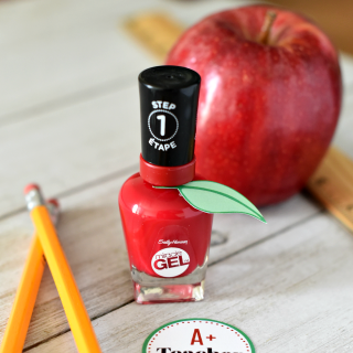 Apple Themed Nail Polish: First Day of School Teacher Gift