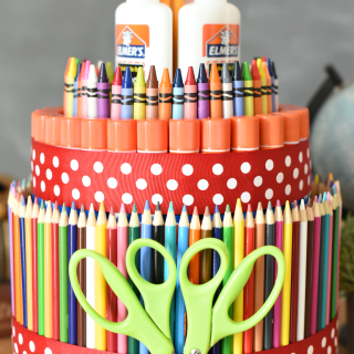 Simple DIY School Supply Cake