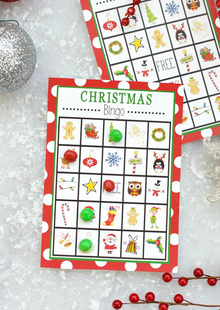 free printable christmas bingo game to print and play this holiday season so cute for