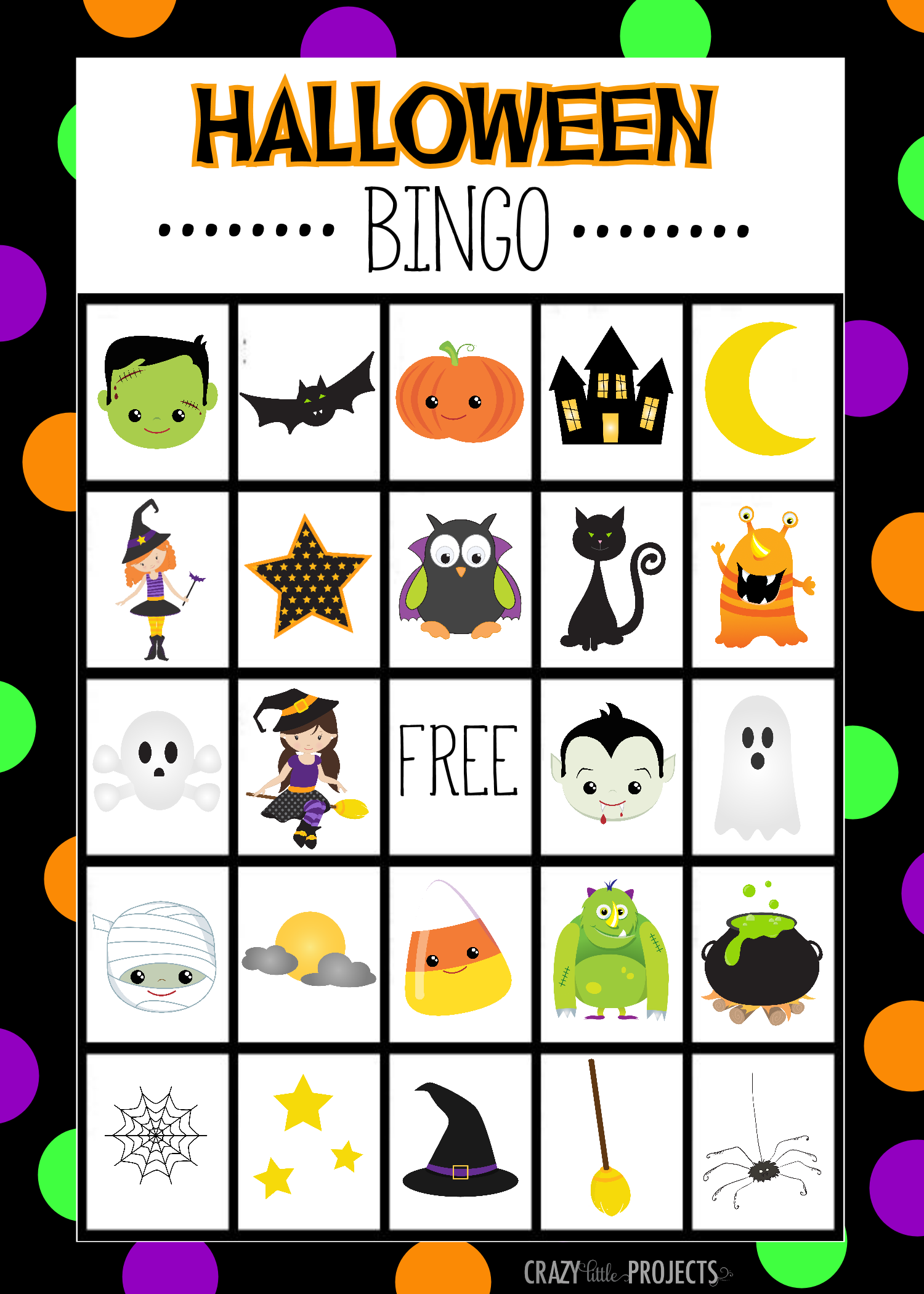 Halloween Bingo Cute Free Printable Game Fun Squared
