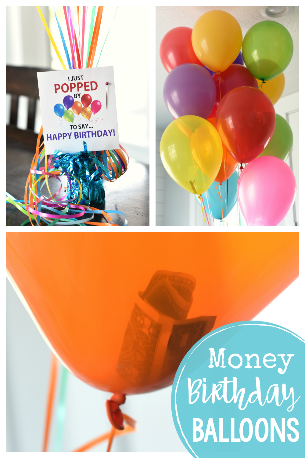 Fun Money Gift Ideas Fill Balloons With Dollar Bills Or More And Add