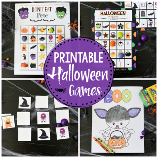 Cute Printable Halloween Games for Kids