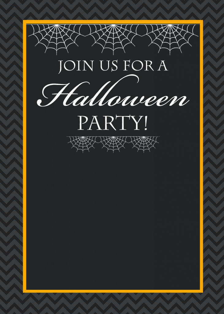 chevron halloween invitation halloween spider invitations