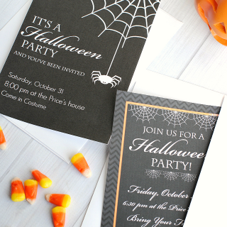 Cute Free Printable Halloween Invitations