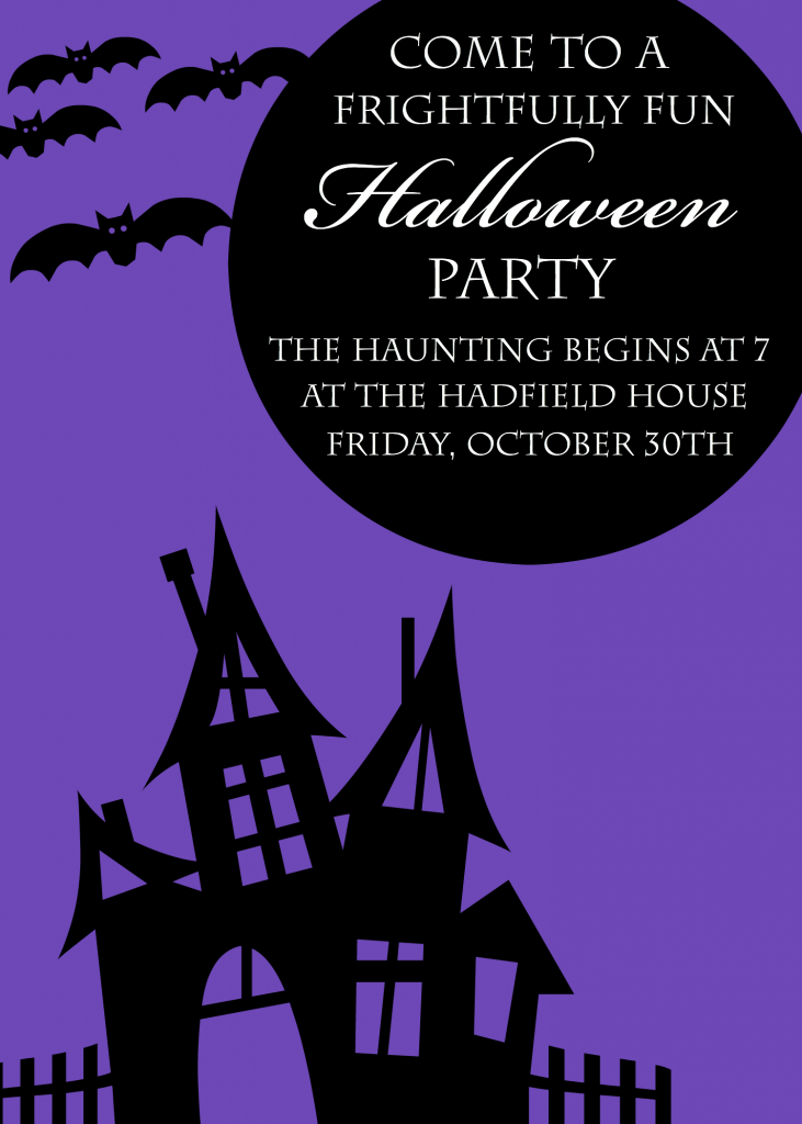 Cute Party Invitations For Halloween