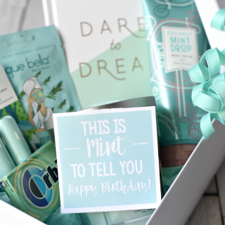 Cute Mint Themed Gift for Birthdays or Thank Yous