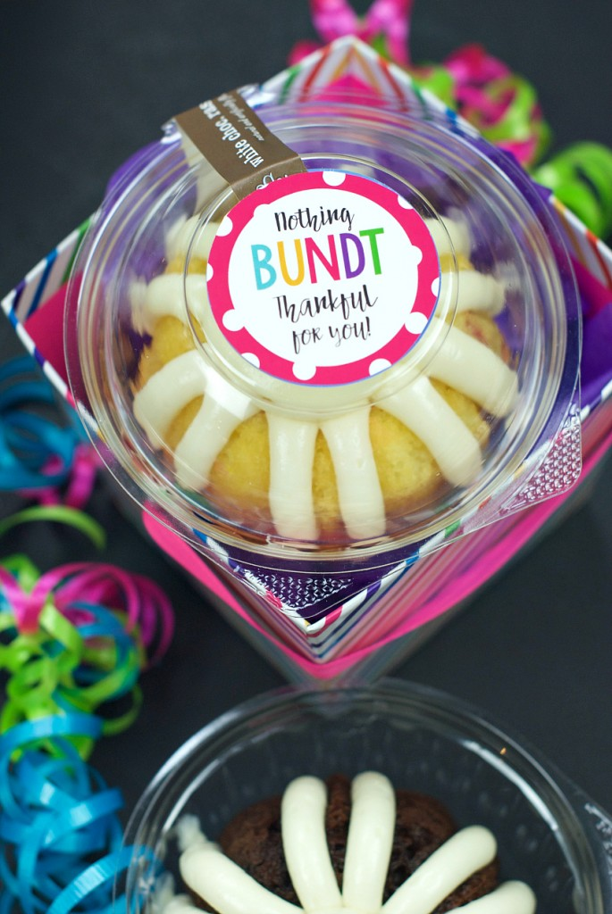 Thank You Gift Idea-Nothing Bundt Thankful for You!