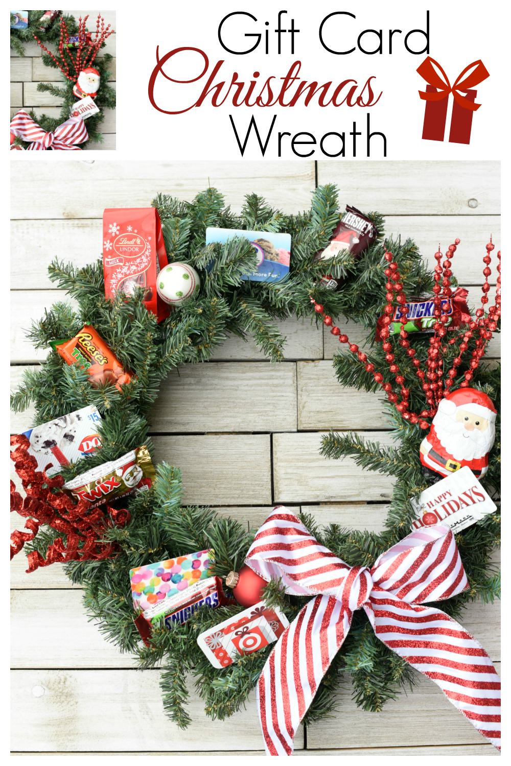 This fun and simple Christmas Gift Idea is perfect for anyone on your list this year. It's such a great way to to give gift cards. #gifts #christmasgifts #creativegifts #giftcards