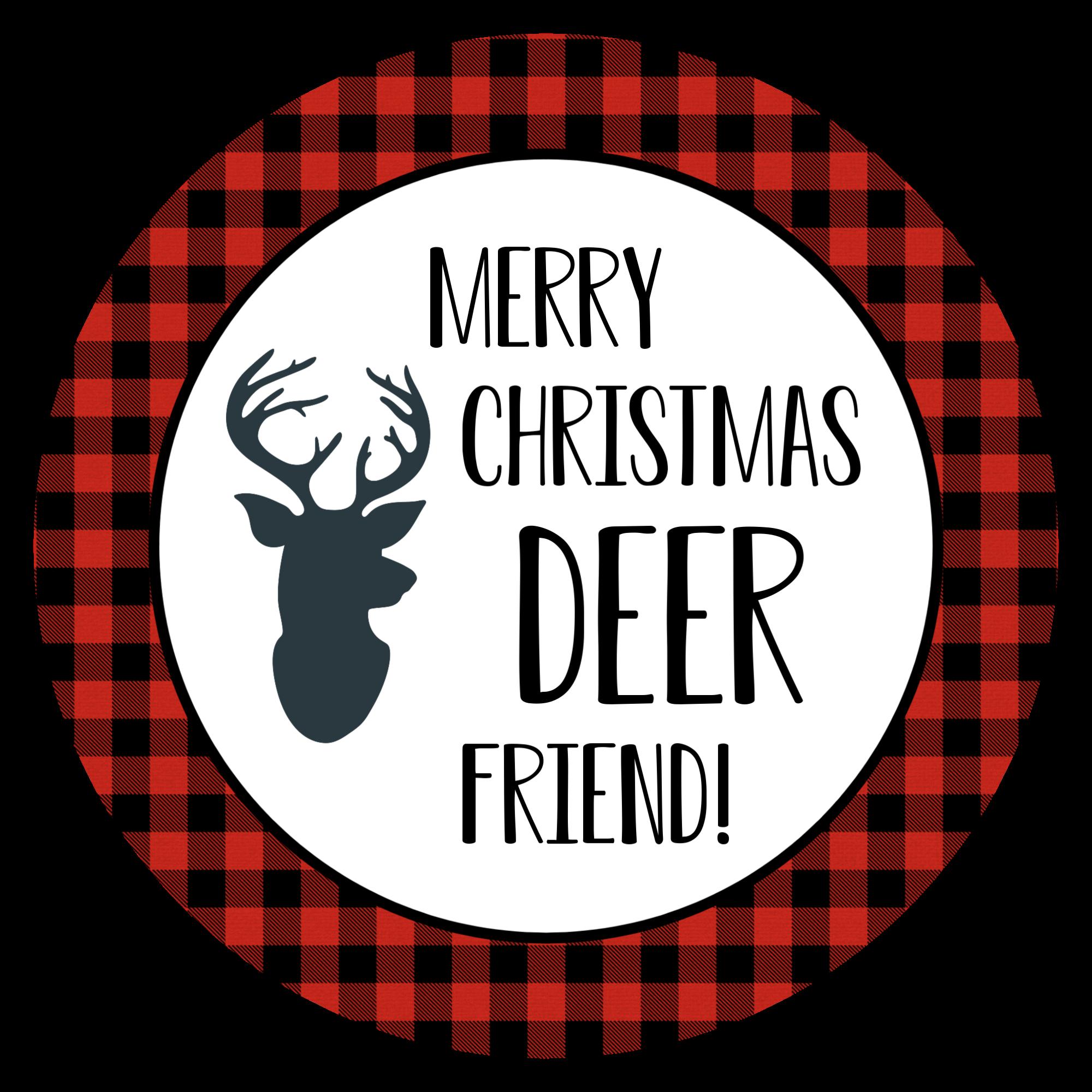 Deer Friend Tag