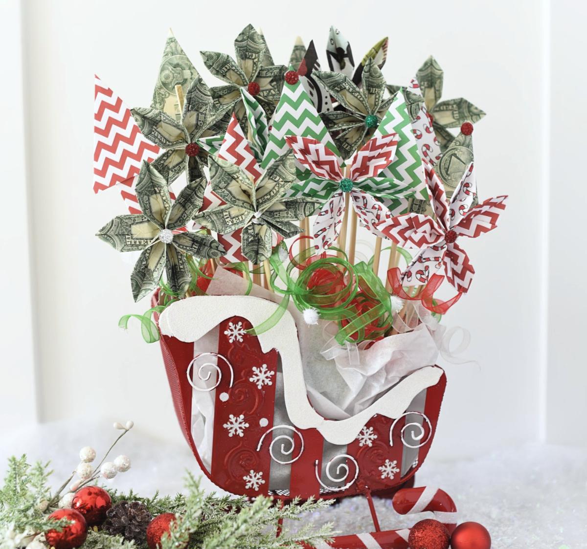 Fun Christmas Money Bouquet