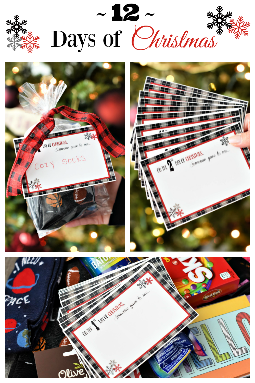 Fun 12 Days of Christmas Ideas! Spread the joy of Christmas with these fun 12 Days of Christmas ideas and free printables! So simple and such a great way to celebrate. #12daysofChristmas #Christmasgiftideas #12daysofchristmasideas