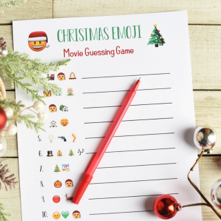Fun Christmas Party Games: Emoji Songs & Movies