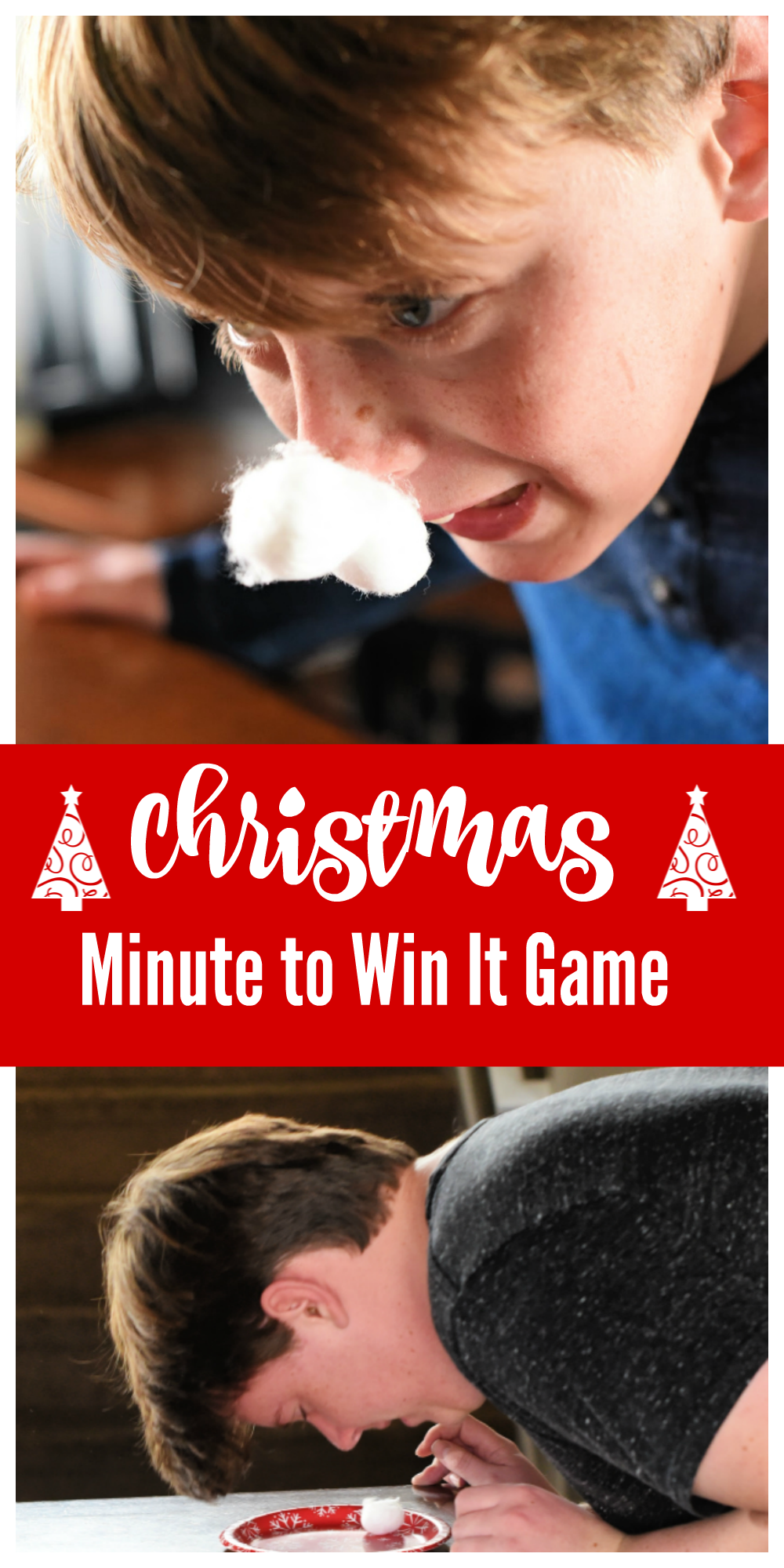 Christmas Minute to Win It Games to Play-Reindeer Races Great for Christmas Parties #christmas #christmasgames #christmasparty