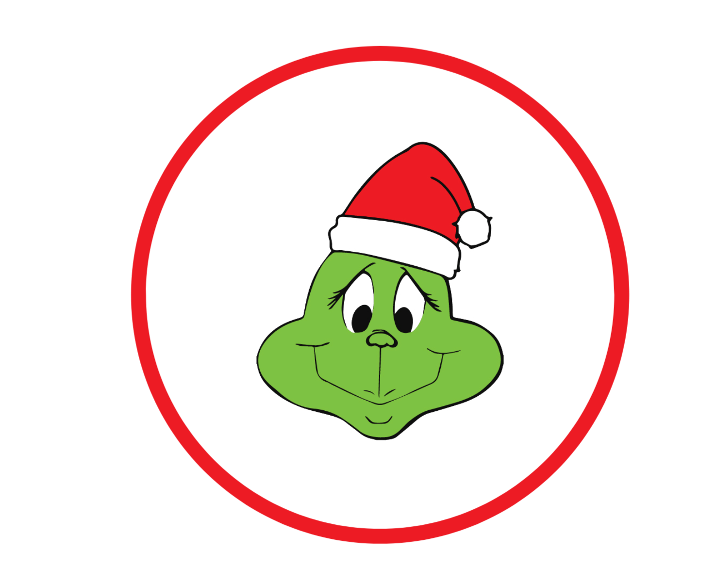 Grinch Cupcake Toppers