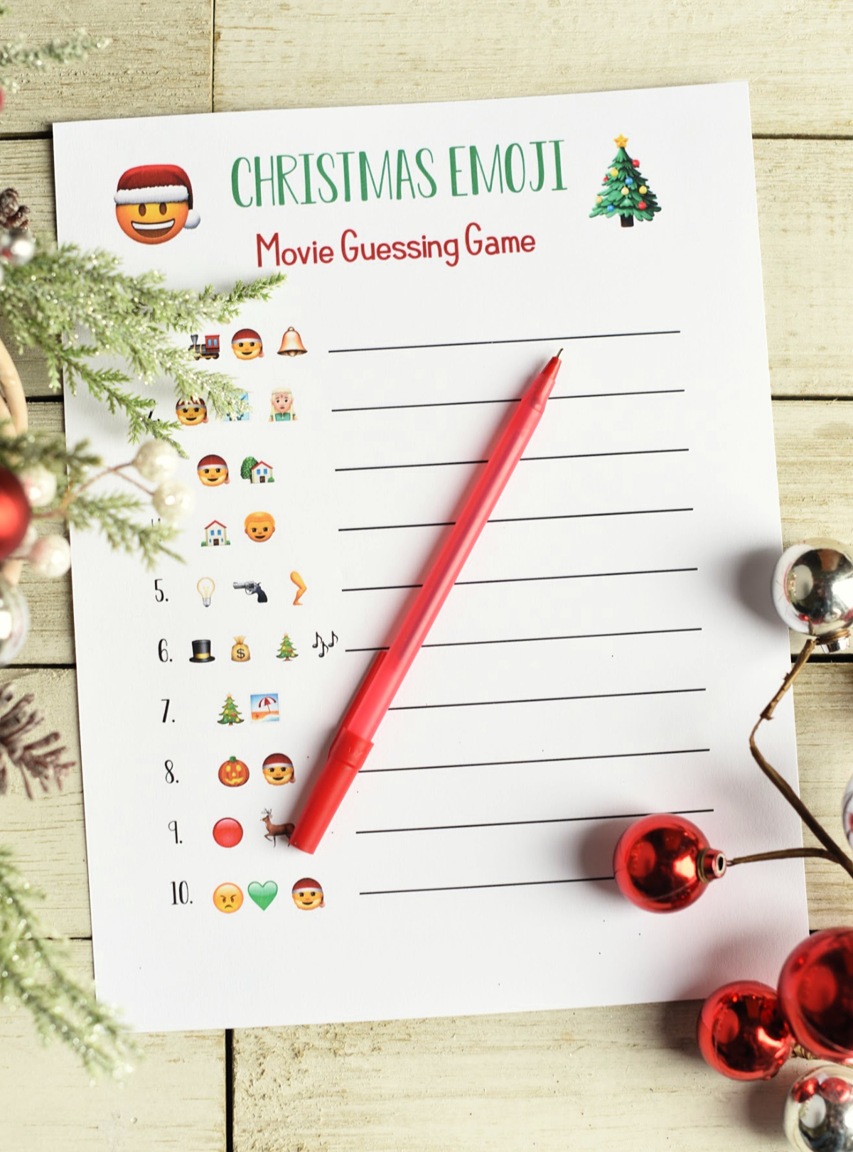 fun christmas party games print and play this emoji guessing game 3 versions to
