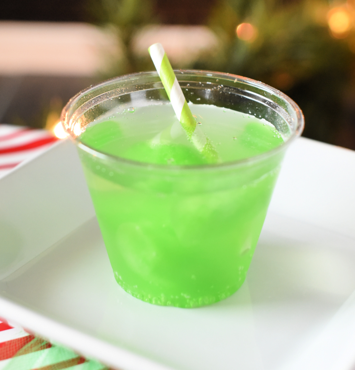 Grinch Greenie Drink