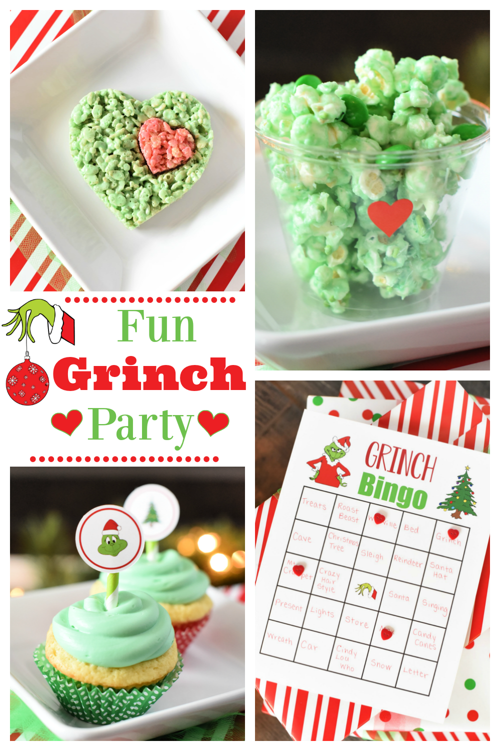 How to Throw a Grinch Party-This fun Grinch themed Christmas party is super fun to throw! Watch the Grinch movie while you eat these great treats, play these fun games and have this fabulous holiday party! #thegrinch #christmasparty #christmas #christmaspartyideas