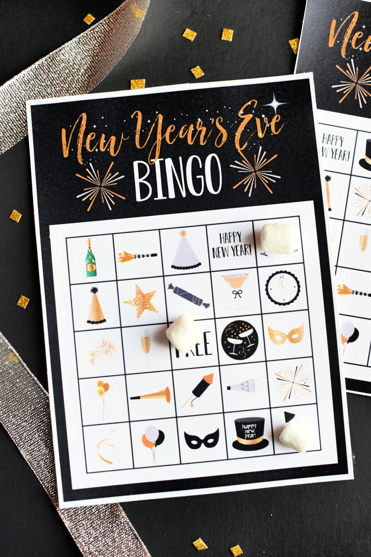 New Year's Eve Bingo Game
