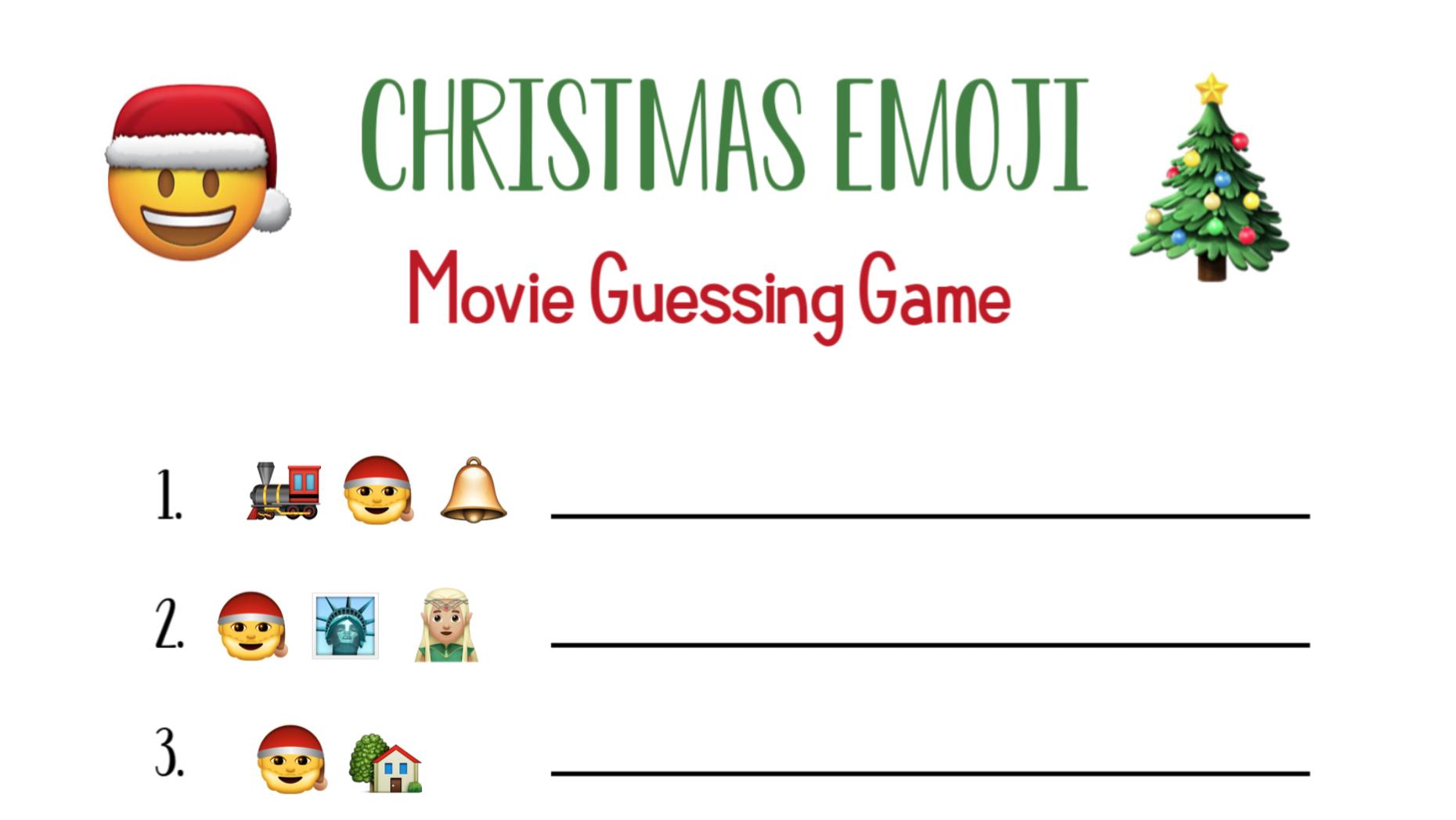 Fun Christmas Party Games: Emoji Guessing