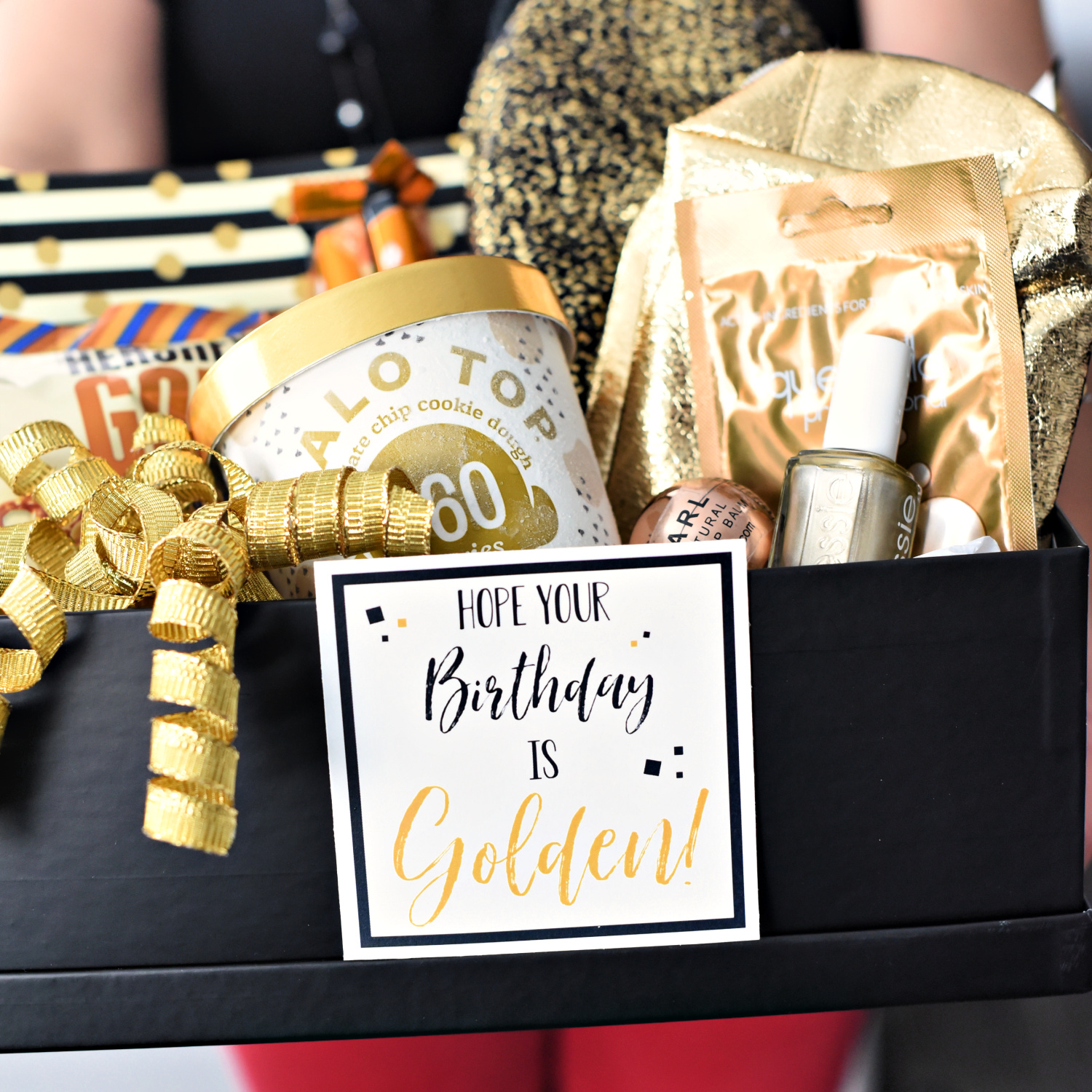 Golden Birthday Gift Idea-This cute gift basket is a perfect birthday gift for anyone & Golden Birthday Gift Idea u2013 Fun-Squared