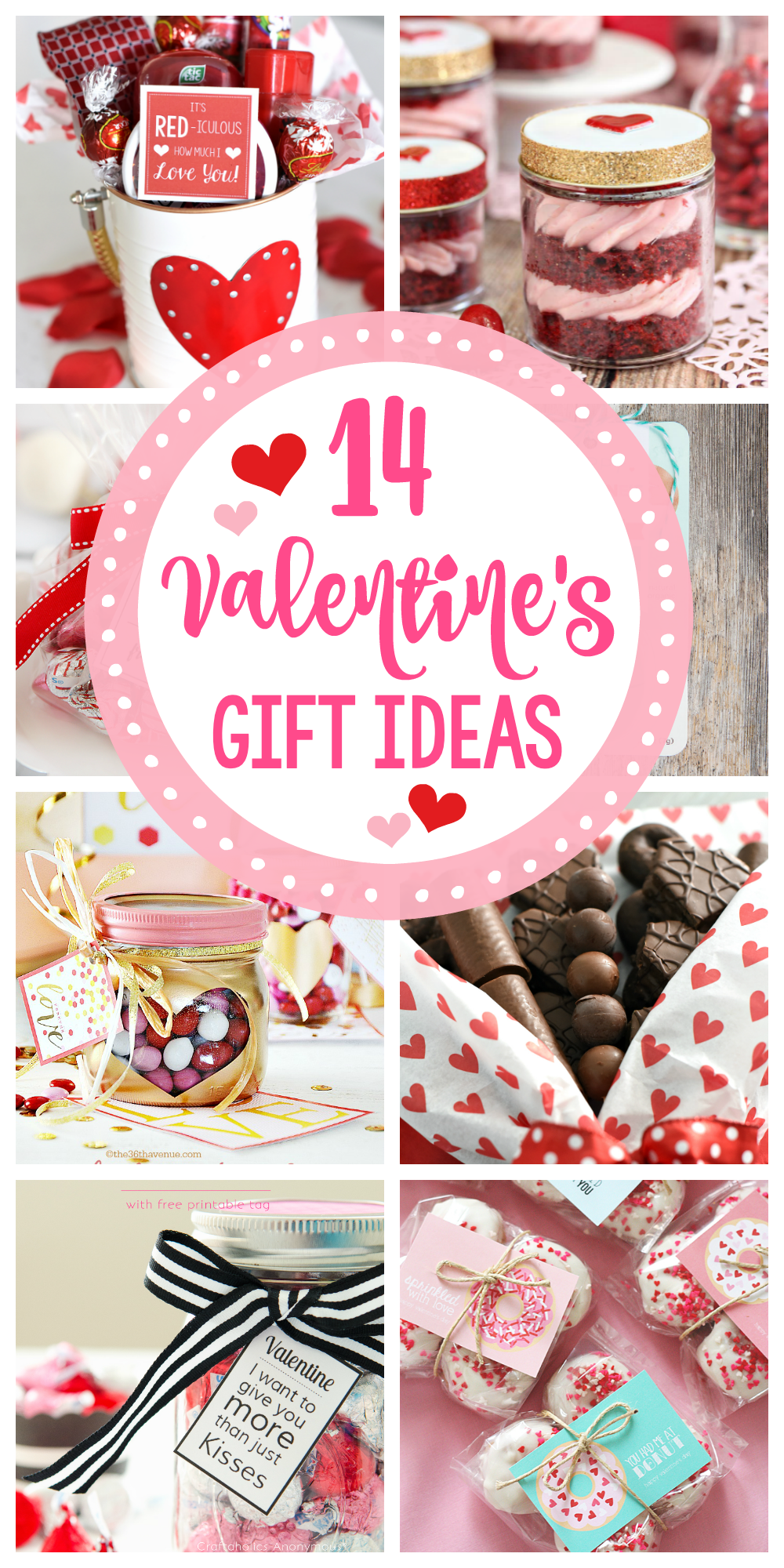 14 Valentine's Day Gift Ideas to give to your husband, kids or friends! Cute and creative Valentine's gifts you will love giving! #valentinesday #valentinesdaygifts