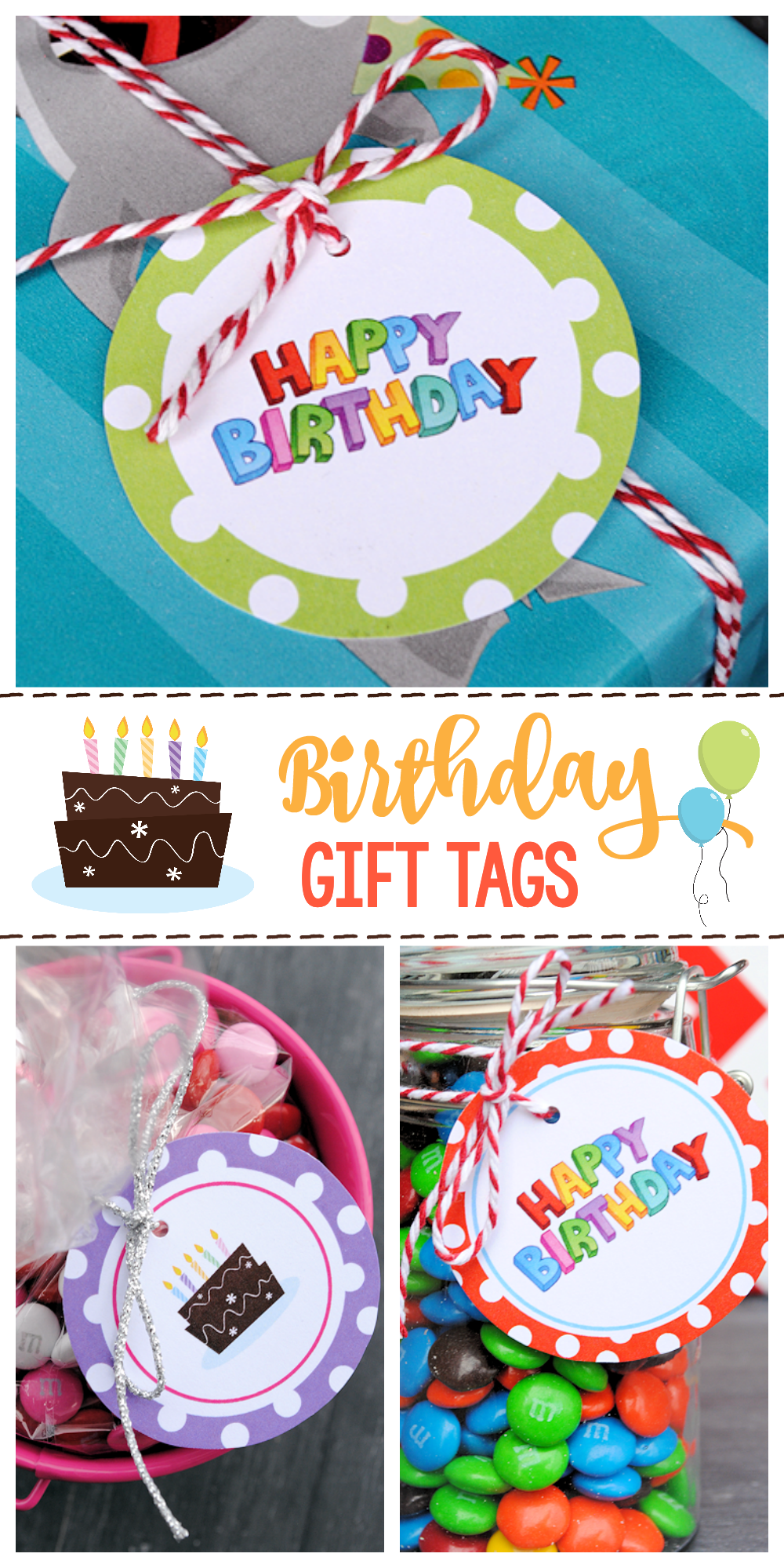 It is a photo of Impertinent Free Printable Birthday Gift Tags