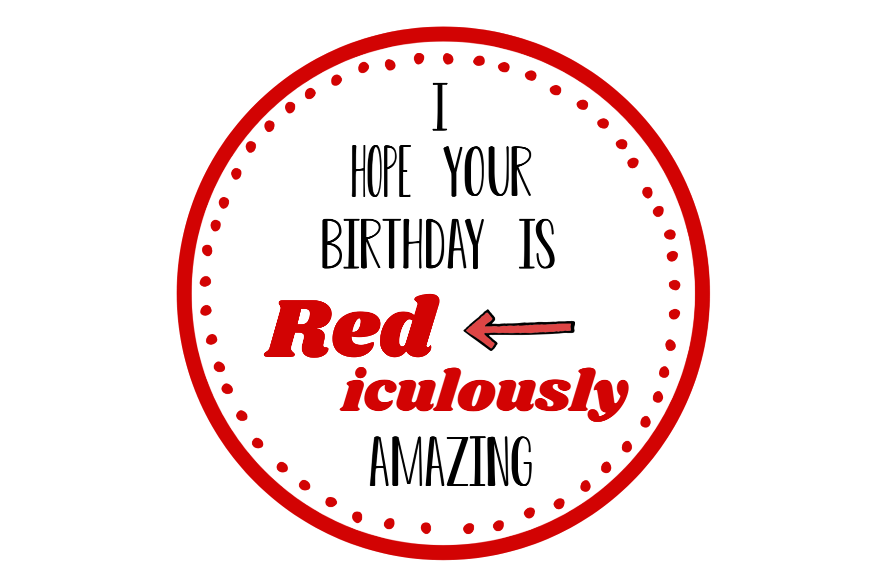 Red-iculous Gift Tag