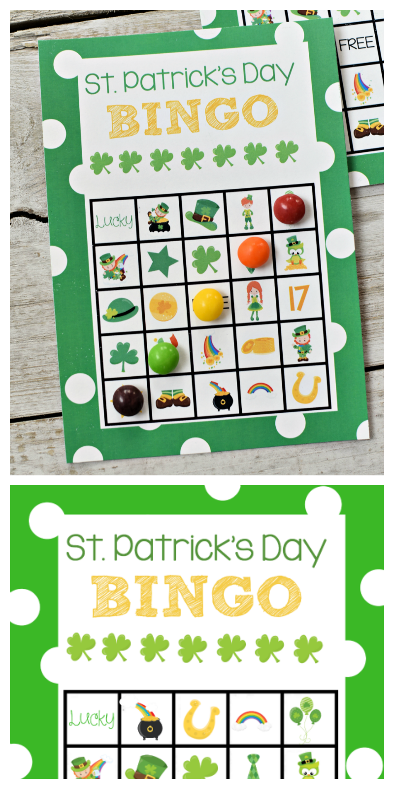 St. Patrick's Day Bingo Game to print and play with the kids! #stpatricksday