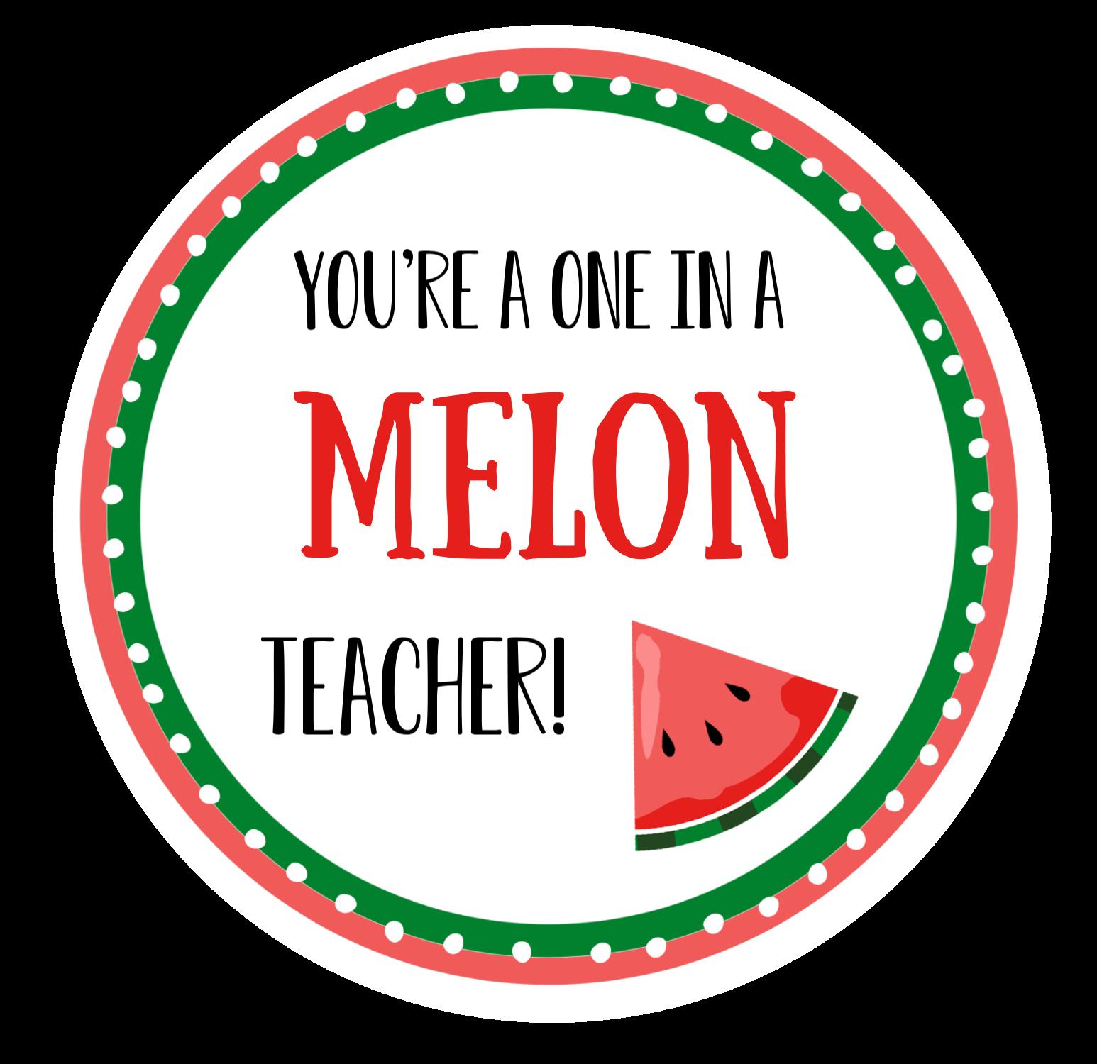 Melon Teacher Gift Tags