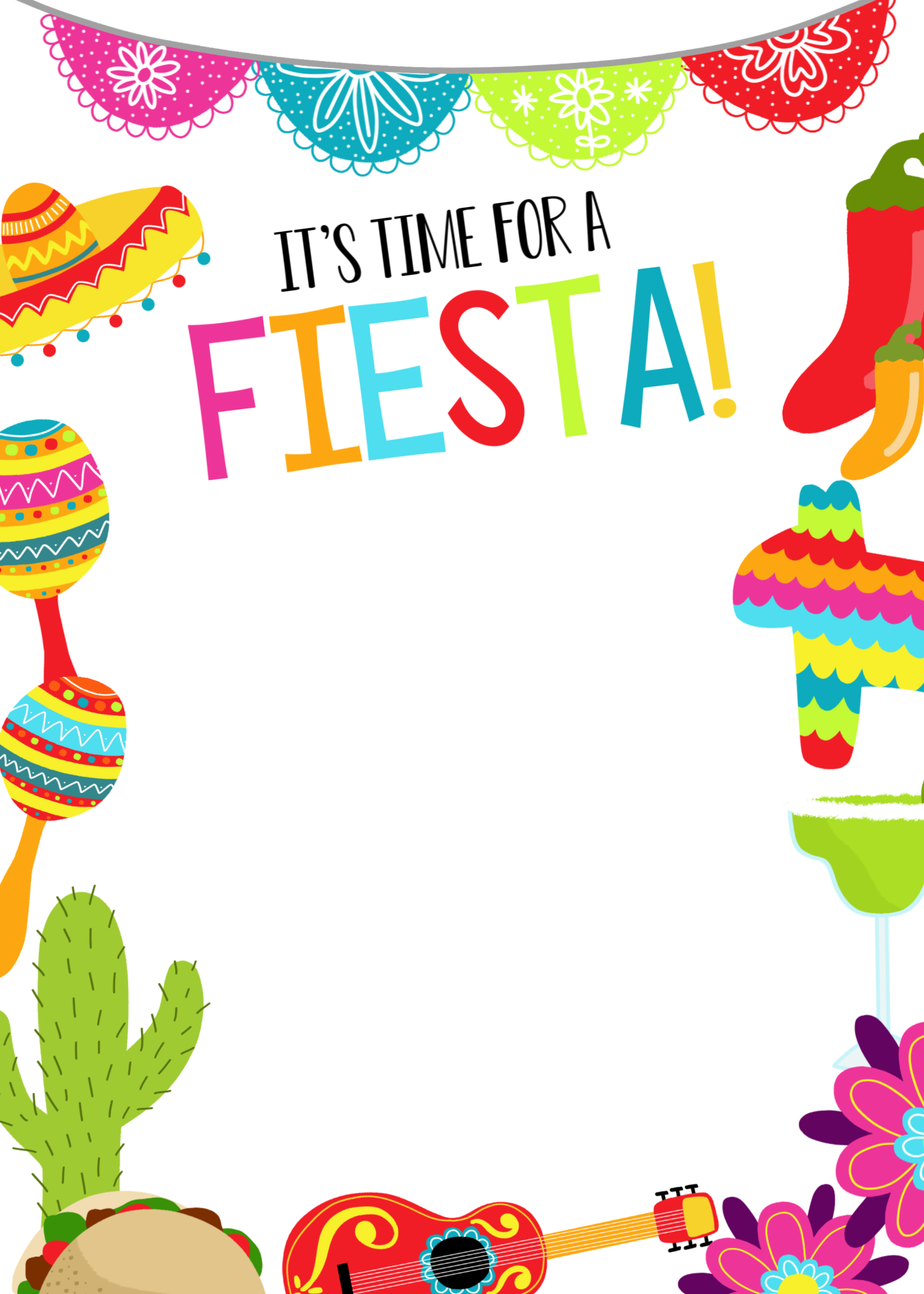 It's just a graphic of Free Printable Fiesta Invitations regarding engagement